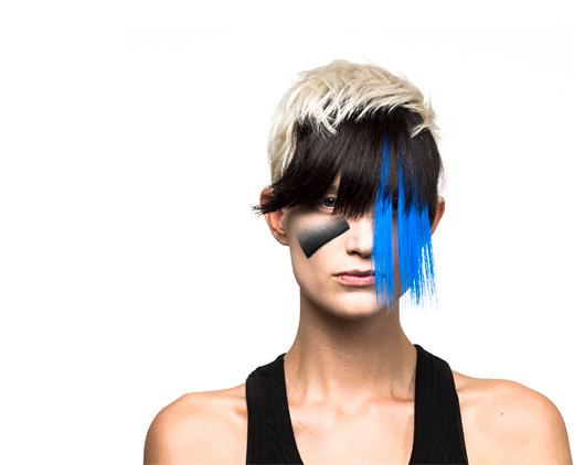 Face detection  woman with camouflage