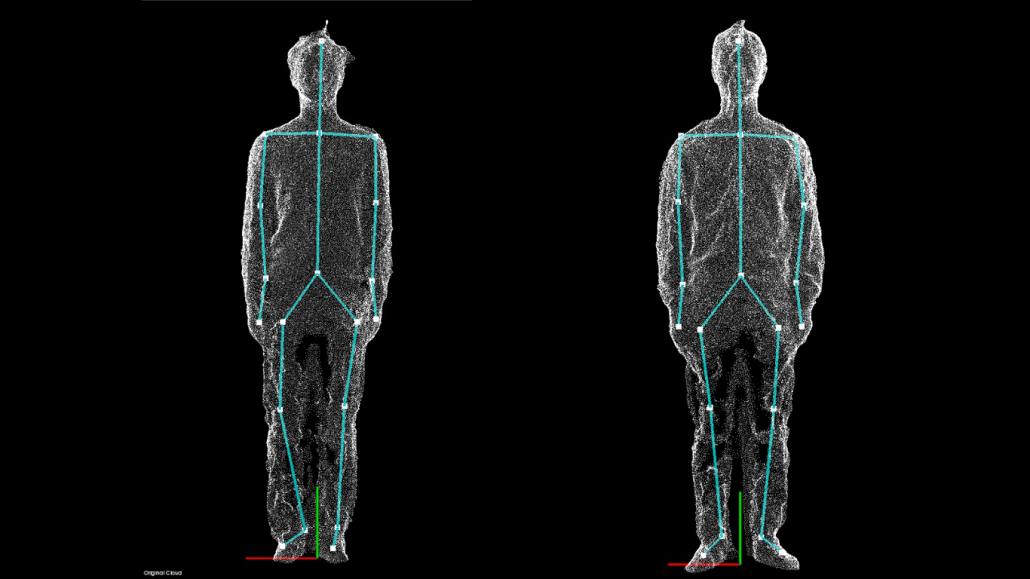 3d image of 2 men standing