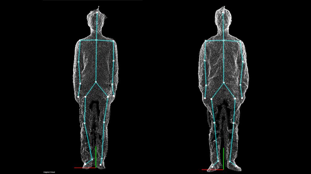 3d image of 2 men standing