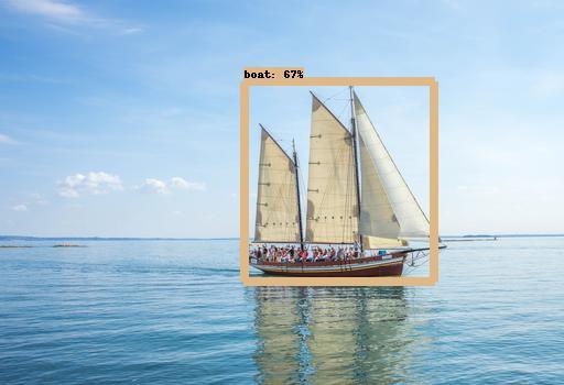 Maritieme beeldherkenning een zeilboot op zee