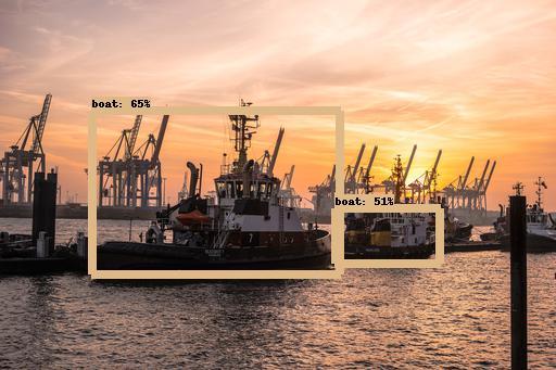 Maritieme beeldherkenning sloopboten aan de haven