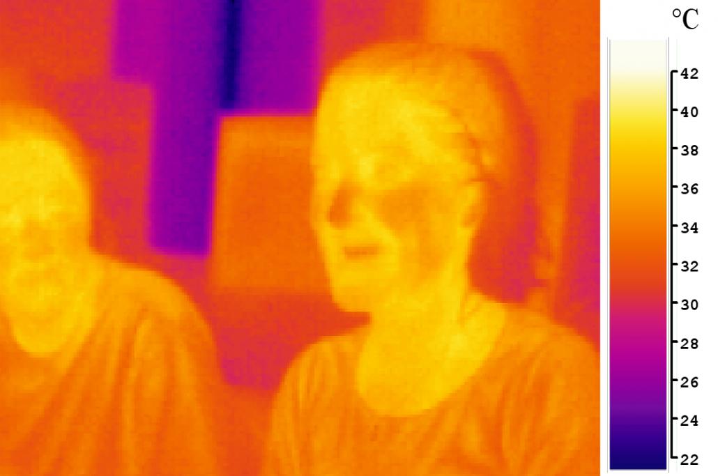 Thermisch beeld met mensen