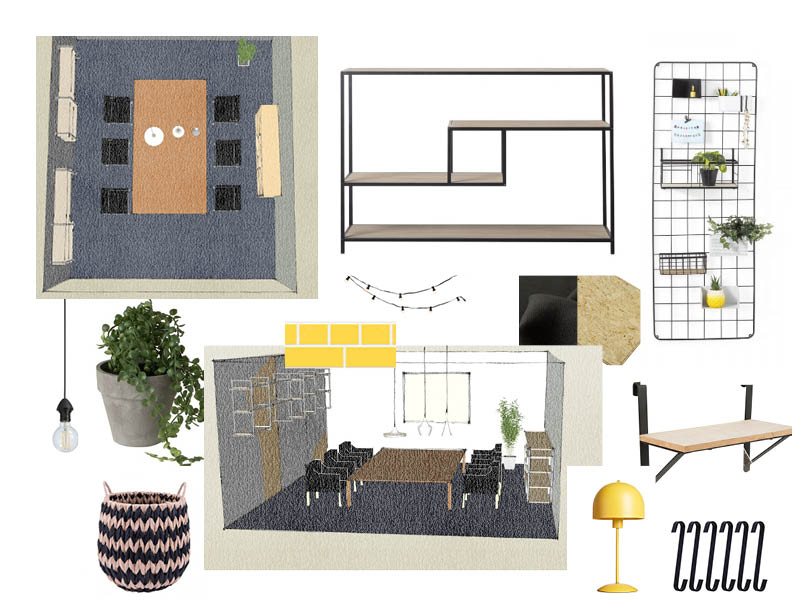 Interior design of meetingroom